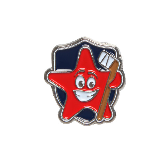 "SKA pin ""Shield star with a stick"""