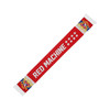 Red Machine knitted scarf
