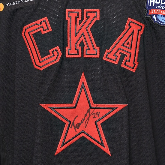 "Game worn jersey ""Russian classic 2019"" with autograph. V. Tokranov, №24"