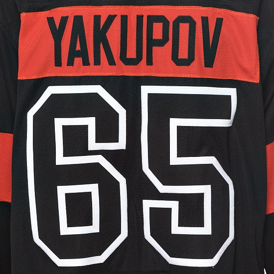 "Game worn jersey ""Russian classic 2019"" with autograph. N. Yakupov, №65"