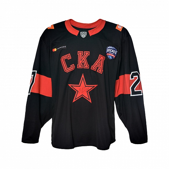 "Game worn jersey ""Russian classic 2019"" with autograph. I. Ozhiganov, №27"