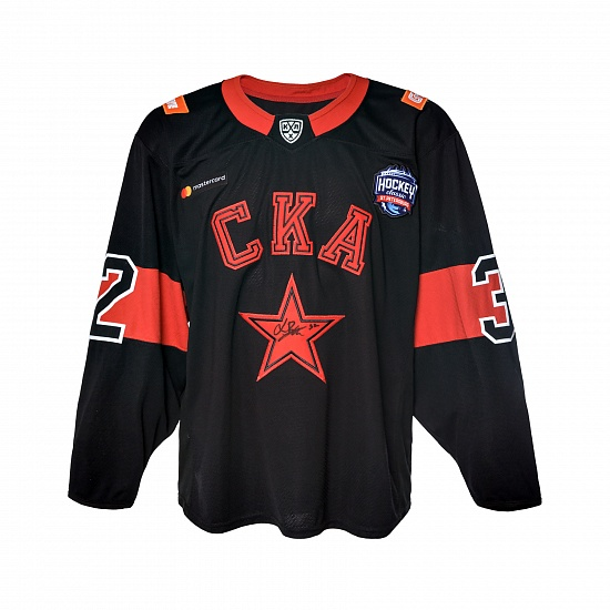 "Game worn jersey ""Russian classic 2019"" with autograph. L. Bengtsson, №32"