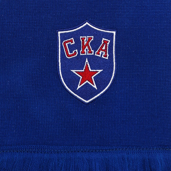 SKA knitted scarf with embroideries