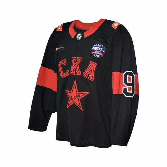 "Game worn jersey ""Russian classic 2019"" with autograph. D. Kagarlitsky, №9"