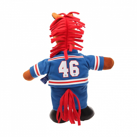 "Soft stuffed toy ""Firehorse"" (standing, blue jersey)"