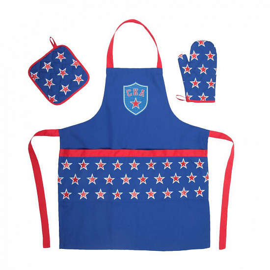 SKA apron and two oven mitts