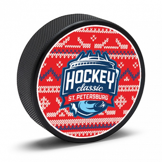 "Double-sided puck ""Hockey. Classic. Petersburg"""