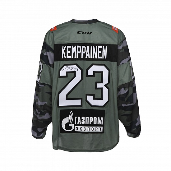 SKA Army game worn jersey with autograph. J. Kemppainen, №23